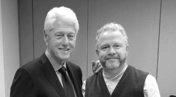 Colin Davidson with Bill Clinton