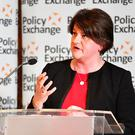 DUP leader Arlene Foster speaking at the Policy Exchange conference