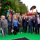 The official opening of the park in Dunmurry