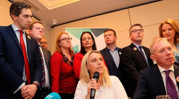 Senator Lynn Ruane speaking at an event organised by Women's Health in Ireland that invited all Oireachtas members who support a Yes vote