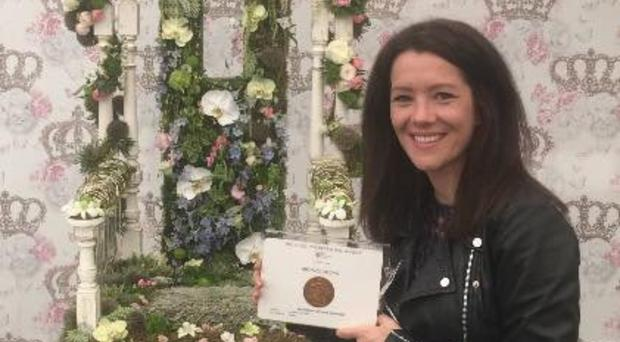 Ann Kirkwood won a bronze medal at the Chelsea Flower Show