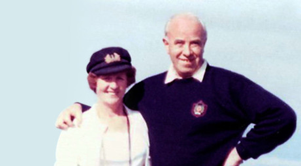 James Henry Babington and his wife Maura in 1989, the year he was murdered by the IRA in Belfast