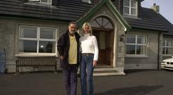 George and Alex Best outside their seaside home outside Portavogie