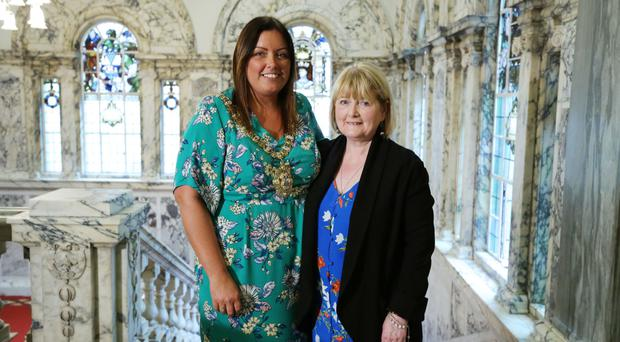 Belfast Lord Mayor Deirdre Hargey with mum Anne