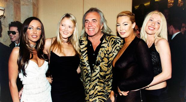 Peter Stringfellow in one of his clubs in London in 2001