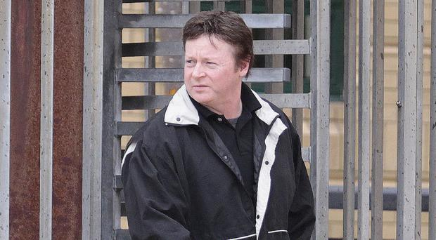 Ronnie Carleton leaves Antrim court after an earlier hearing