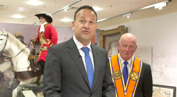 Taoiseach Leo Varadkar during his visit to headquarters of the Orange Order