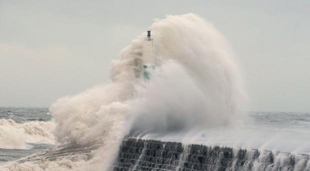 People in coastal areas are being warned of the potential for large waves amid a forecast of 70mph gusts (Aaron Chown/PA)