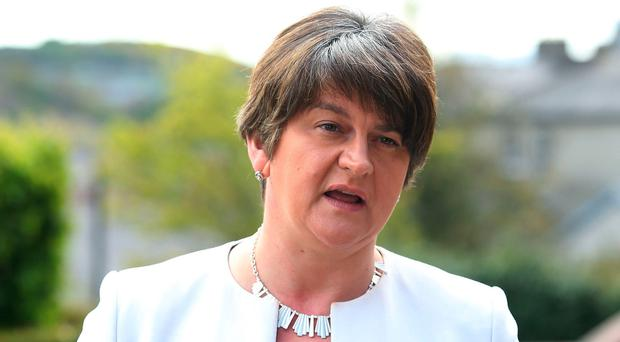 Reaching out: Arlene Foster