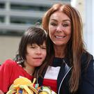 Charlotte Caldwell and her son Billy outside the Home Office (Yui Mok/PA)