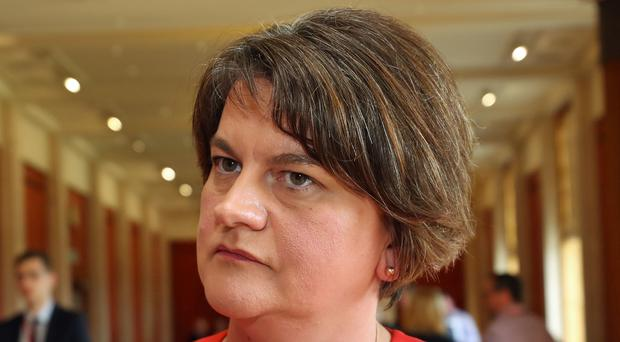 DUP leader Arlene Foster said her party was not changing its position on marriage (Niall Carson/PA)