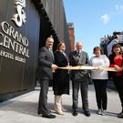 The directors of Hastings Hotels Howard Hastings, Allyson McKimm, Edward Carson, Julie Hastings and Aileen Martin at the opening of the Grand Central Hotel (Kelvin Boyes/PA)