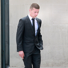 Dylan McDonald outside court