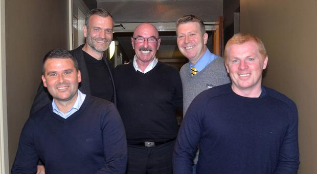 From left: David Healy, Roy Carroll, Liam Beckett, Pat McGibbon and Neil Lennon