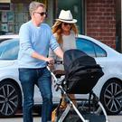 Patrick Kielty and Cat Deeley after the birth of their first son Milo in 2016