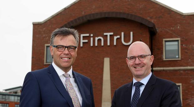 Alastair Hamilton, CEO of Invest NI, and Darragh McCarthy, of FinTrU