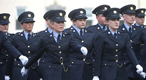 A passing-out parade of new Garda officers