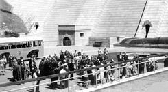 The opening of Ben Crom dam in 1959