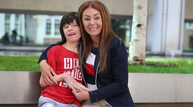 A 20-day emergency licence was granted for Billy Caldwell, pictured with his mother Charlotte (Yui Mok/PA)