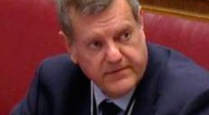 Chris Stewart gives evidence to the inquiry yesterday