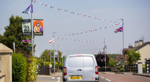Banners erected in Moygashel pay tribute to UVF man Wesley Somerville