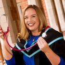 Hannah Gillespie will be awarded her degree from the School of Medicine, Dentistry and Biomedical Sciences at the 2.30pm graduation ceremony at Queen's University Belfast today