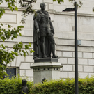 The Prince Albert statue at Leinster House
