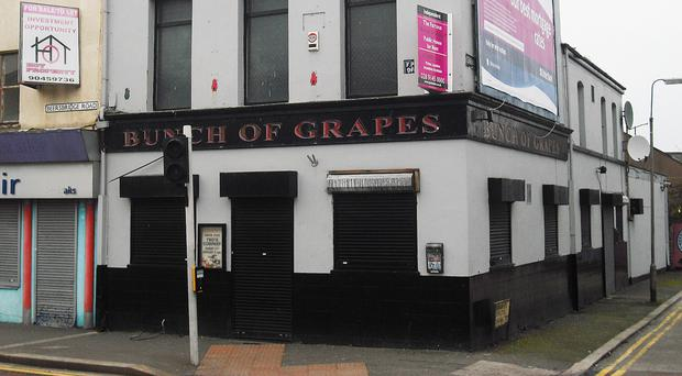 The infamous Bunch of Grapes pub in east Belfast