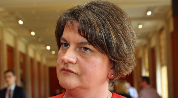 Arlene Foster has called for decisions about Northern Ireland's political future to be made in London, after a key legal ruling limiting the decision-making power of civil servants. (Niall Carson/PA)