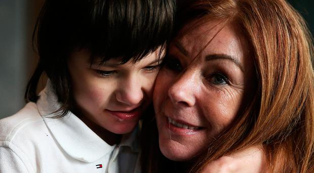 Billy Caldwell with mum Charlotte