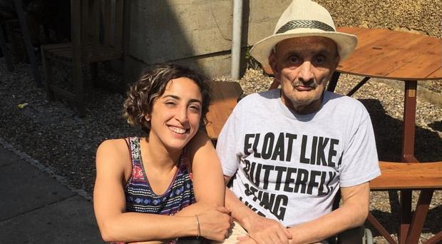 Rajaa Berezag with her father Zaoui