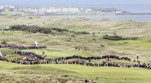 Royal Portrush will provide the picturesque setting for The Open next year