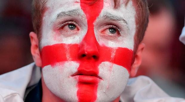England fans showing all their emotions during and after the World Cup semi-final defeat to Croatia after extra-time in Moscow last night