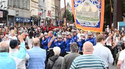 The Belfast Twelfth of July Parade is being rerouted due to the works at the Bank Buildings.