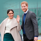 Prince Harry and Meghan Markle during their visit to Belfast in March