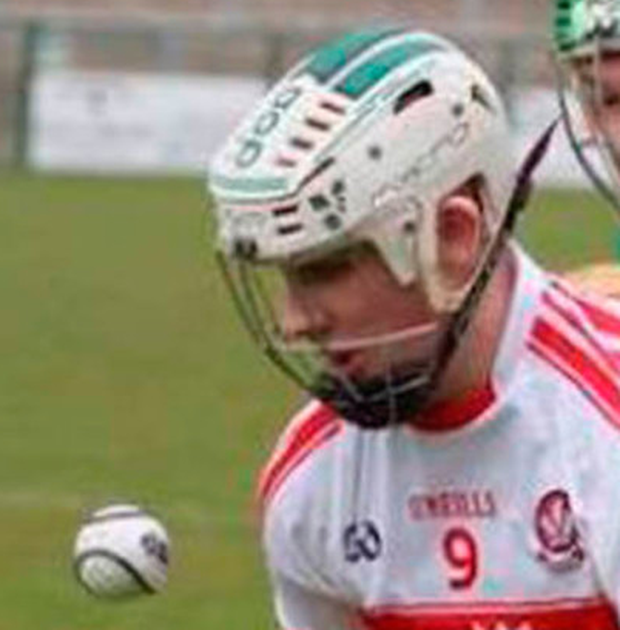 Aodhan playing for Derry