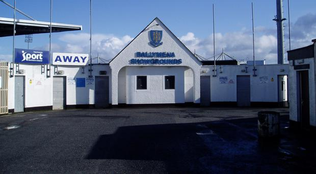 The Ballymena Showgrounds won't host a Danske Bank Premiership game until October.