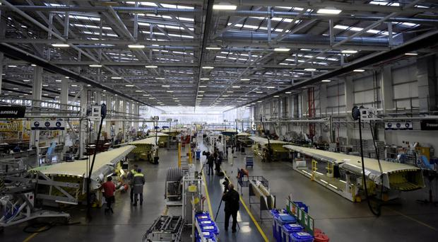 Staff at Bombardier in Belfast