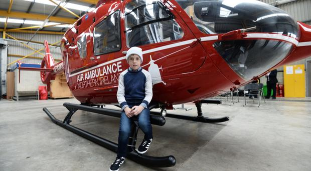 Conor McMullan became the first NI casualty to be attended by the air ambulance in July last year