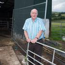 Farmer Ronnie Hazlett at the scene where he and his son George were involved in a slurry accident