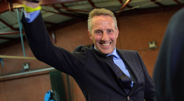 Ian Paisley celebrates another victory at the polls in Ballymena