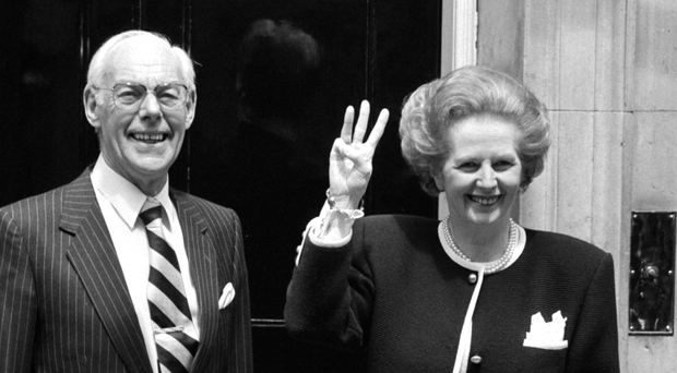 Margaret Thatcher with her husband Denis, who vetted a celebrity guestlist and questioned the inclusion of Paul McCartney and Paul Daniels