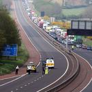 The M2 has been closed (Paul Faith/PA)