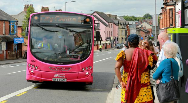 New bus lanes begin operating on the Falls Road yesterday