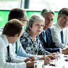 Prime Minister Theresa May holding a Cabinet meeting in Gateshead yesterday