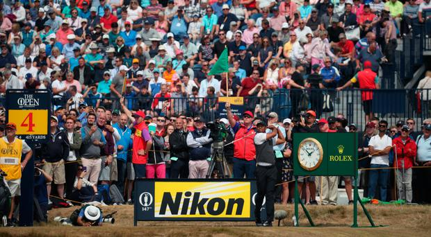 Tiger Woods tees off at The Open this month