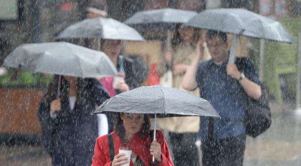 Thundery downpours are affecting parts of the UK this weekend (Anthony Devlin/PA)