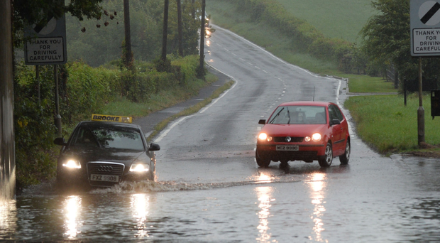 Flooding on the Belfast Road in Glenavy at the weekend