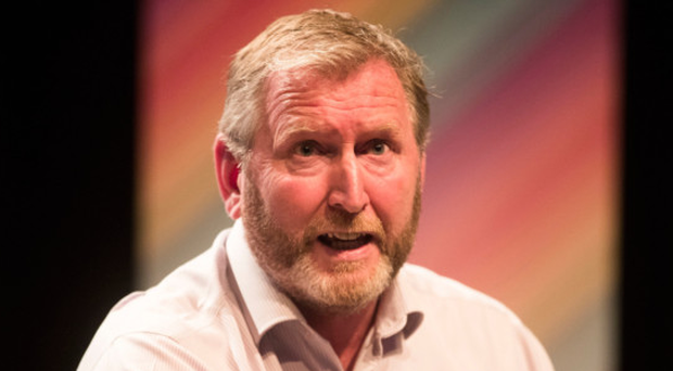 Doug Beattie during the Belfast Pride political debate at The Mac on Monday