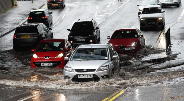 Flooding in Belfast at the weekend